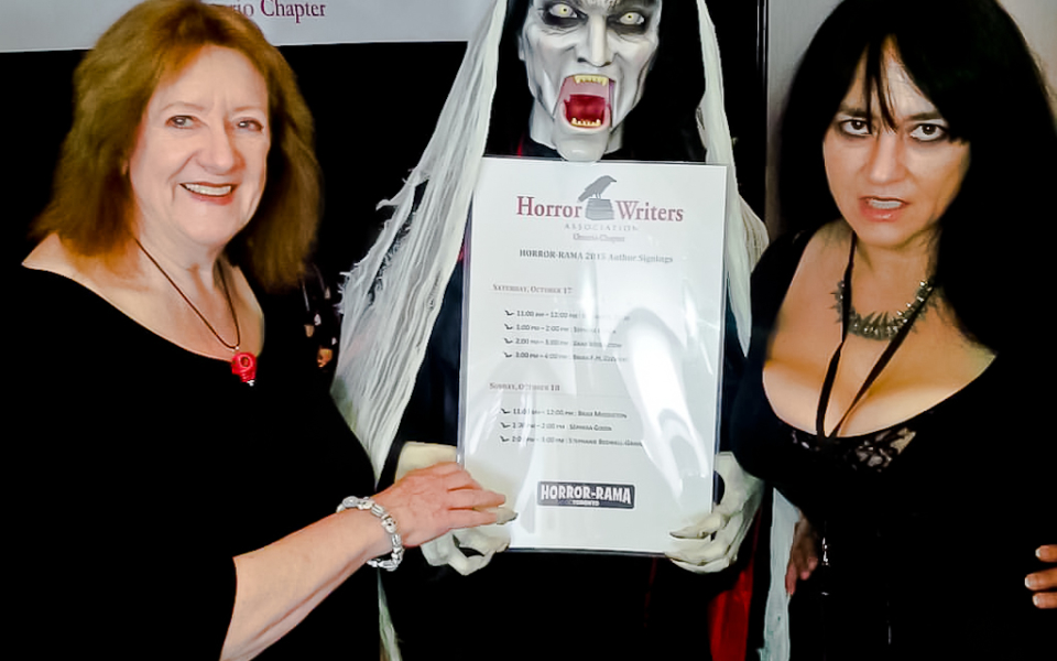 Nancy Kilpatrick and Sephera Giron at Horror-Rama.