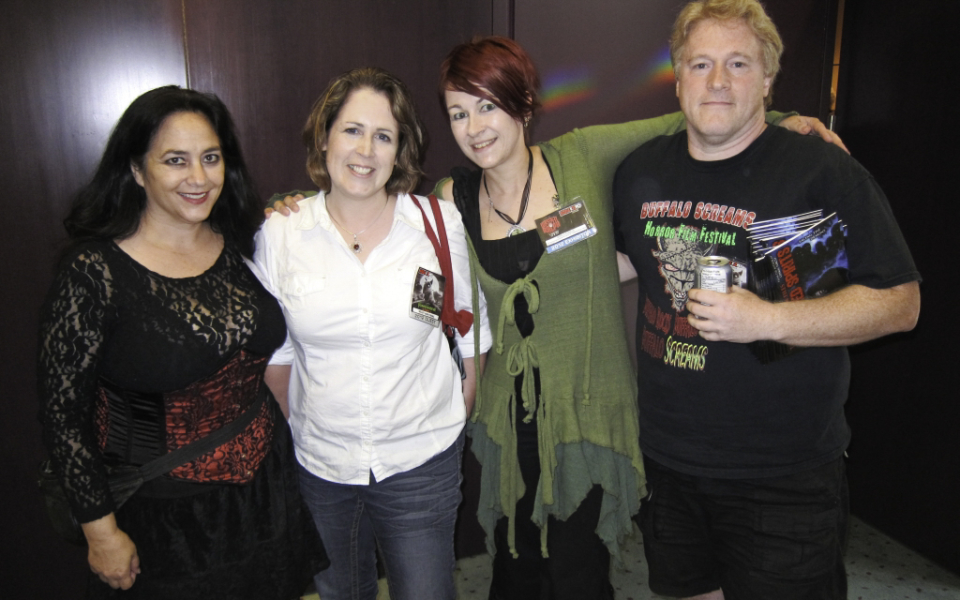 Sephera Giron, Kelley Armstrong, Monica S. Kuebler, and Greg Lamberson at Dark Carnival